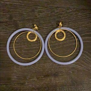 Lilac Circle Earrings
